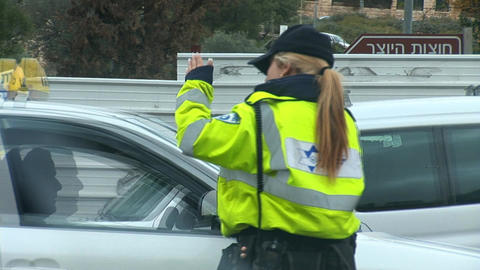 police woman Stock Video Footage
