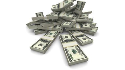 Falling Dollars Packs - Realistic Stock Video Footage