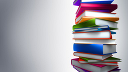 Colorful Books Stack (Loop) Stock Video Footage