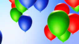 Balloons Backround (Loop) Stock Video Footage