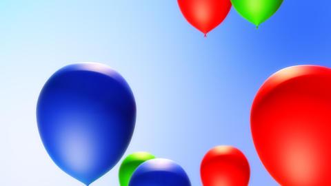 Balloons Backround (Loop) Stock Video Footage