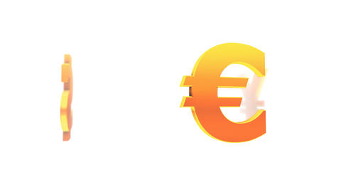 Currency Symbols on White (Loop) Stock Video Footage