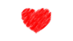 Heart Drawing Zoom Stock Video Footage