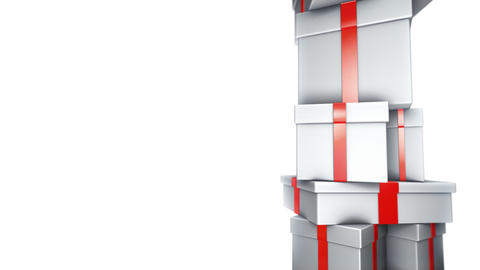 Pile of White Gifts on White (Loop) Stock Video Footage
