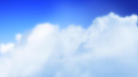 Love Plane in Clouds (Loop) Stock Video Footage