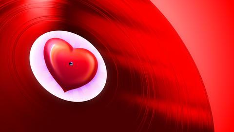 Love Tune Red (Loop) Stock Video Footage