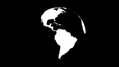 Symbolic Earth Globe Rotating on Black (Loop with Matte) Stock Video Footage