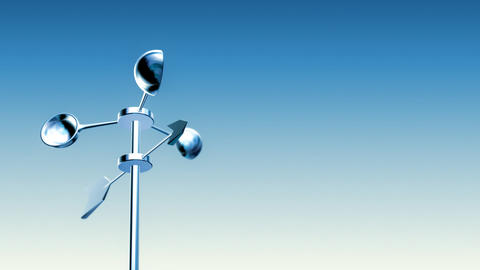 Anemometer (Loop with Luma Matte) Animation