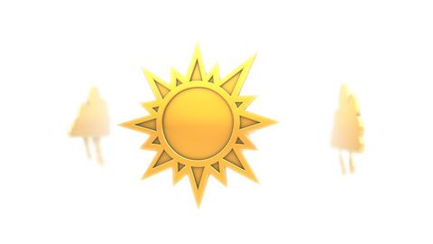 Meteo Symbols (Loop) Stock Video Footage