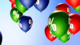 Balloons Percent Symbol (Loop) Stock Video Footage