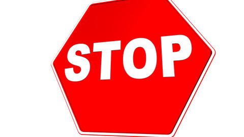 Stop Sign (Loop with Matte) Stock Video Footage