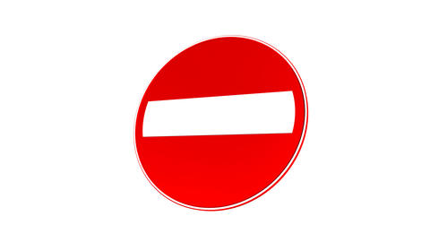 Stop Sign (Loop with Matte) Animation