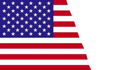 Painting Flag - USA Stock Video Footage