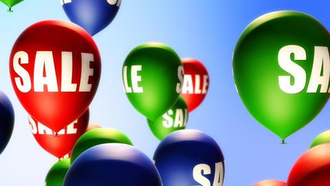 Balloons Sale (Loop) Stock Video Footage