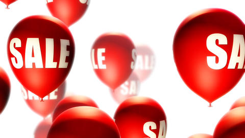 Balloons Sale Red on White (Loop) Animation