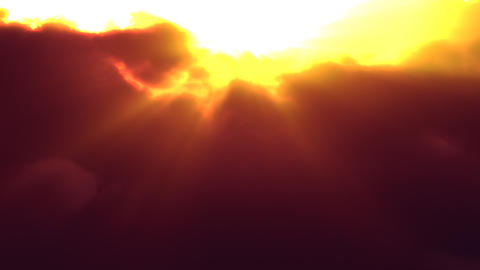 Sunset Clouds Flyby (Loop) Stock Video Footage