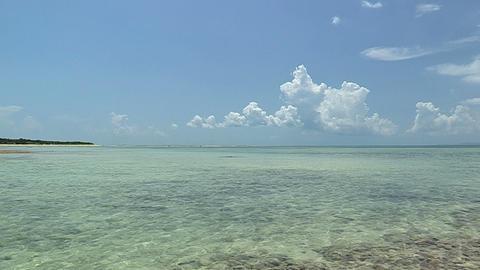 Sea and Horizontal line in Taketomi island,Okinawa,Japan_3 Stock Video Footage