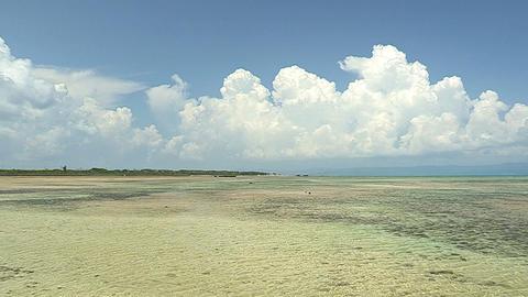 Sea and Horizontal line in Kuroshima island,Okinawa,Japan_2 Stock Video Footage