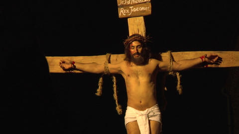 crucifixion 01 Stock Video Footage