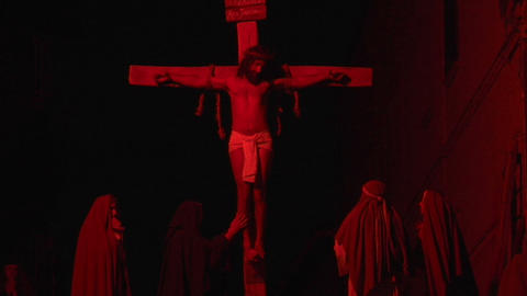 crucifixion dead mary 02 Stock Video Footage