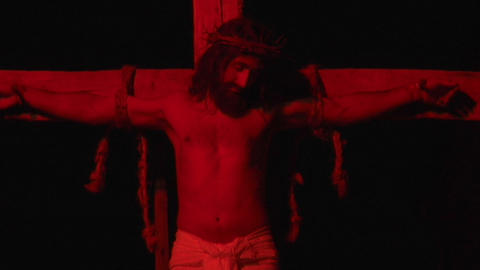 crucifixion deposition 01 Stock Video Footage