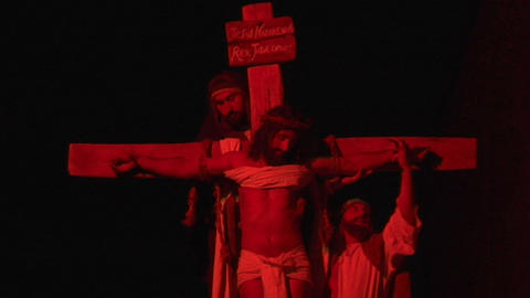crucifixion deposition 03 Stock Video Footage