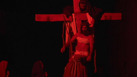 crucifixion deposition 05 Stock Video Footage