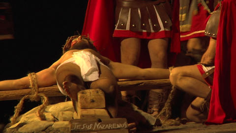 crucifixion nail 01 Stock Video Footage