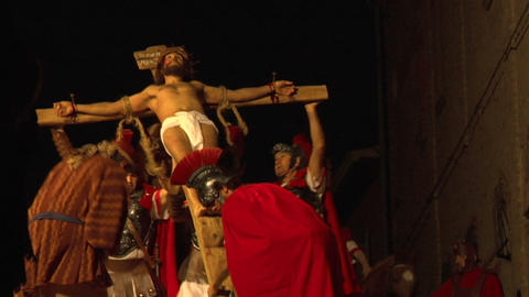 crucifixion raise Stock Video Footage