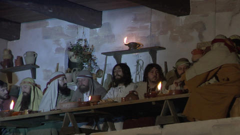 last supper 02 Stock Video Footage