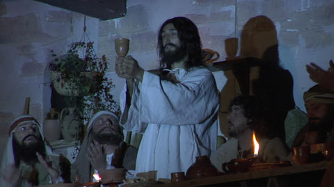 last supper wine Stock Video Footage