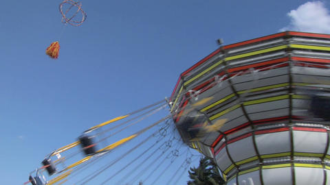 chain carousel 01 Stock Video Footage