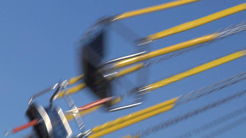 chain carousel slow motion 02 Stock Video Footage
