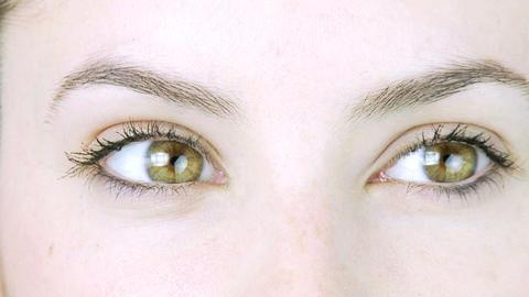 Timelapse of beautiful green eyes Stock Video Footage