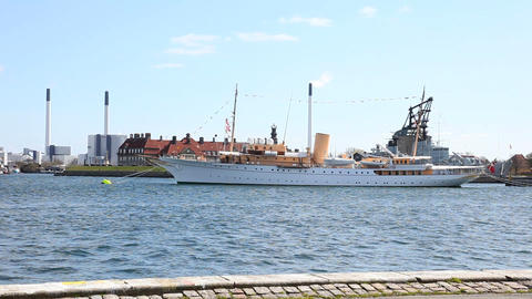 Her Danish Majesty's Yacht Dannebrog Stock Video Footage