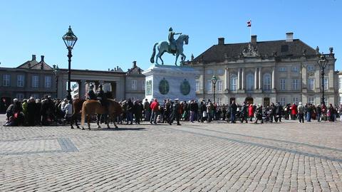 Amalienborg Castle Stock Video Footage