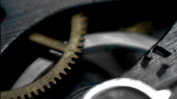 Cogs rotating, detail Stock Video Footage