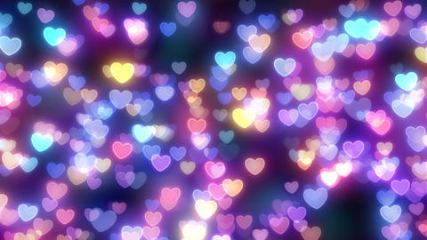 Neon Light Pan Heart F HD Stock Video Footage