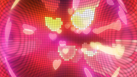 Neon Light Pan Heart G HD Stock Video Footage