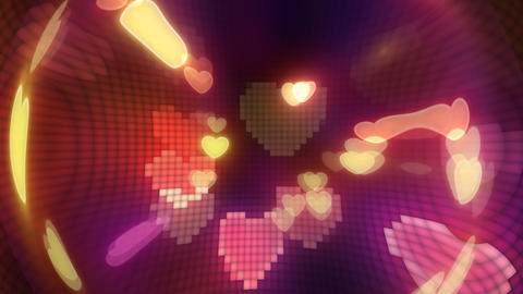 Neon Light Pan Heart G HD Animation