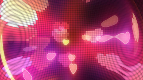 Neon Light Pan Heart G HD Stock Video Footage