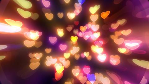 Neon Light Pan Heart J HD Stock Video Footage