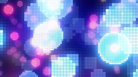 Neon Light Wave Dot K HD Stock Video Footage