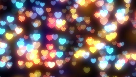 Neon Light Wave Heart D HD Stock Video Footage