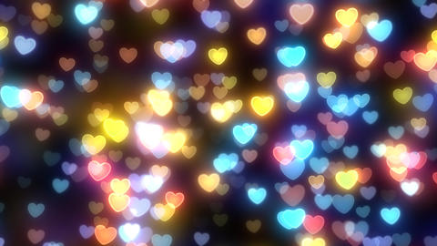 Neon Light Wave Heart D HD Animation