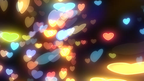 Neon Light Wave Heart G HD Stock Video Footage