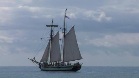 schooner part 1 Stock Video Footage