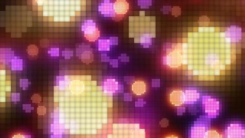 Neon Light Wave Dot Q HD Stock Video Footage