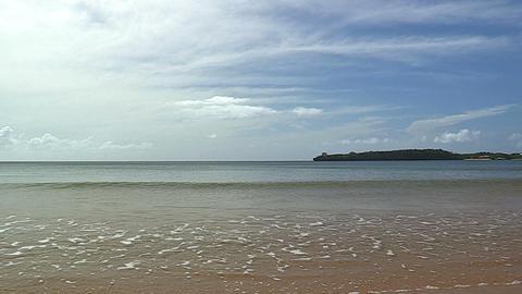 Summer beach in Iriomote island,Okinawa,Japan_2 Stock Video Footage