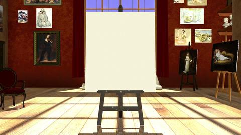 画廊 キャンバス Animation